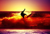 Sea Surfing Sunset Sunset HD Wallpapers - Sea Surfing Sunset