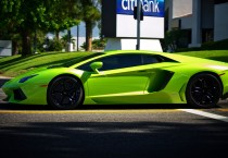 Green Lamborghini Aventador Photo, HD Wallpapers - Green Lamborghini Aventador Photo