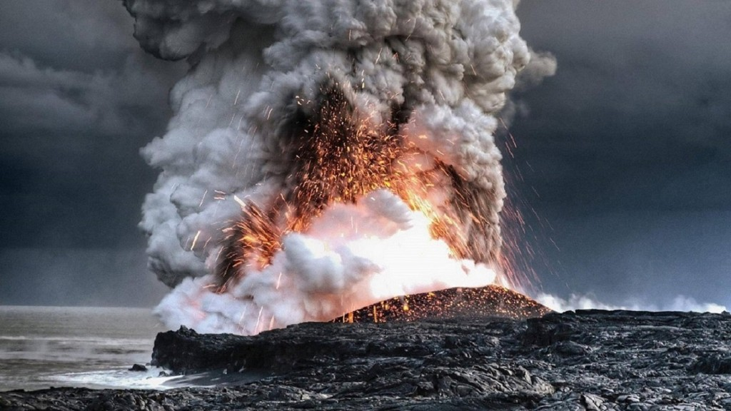 Lava Explosion In Water
