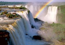 Rainbow Over Waterfalls HD