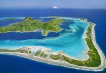 Aerial View Over Bora Bora