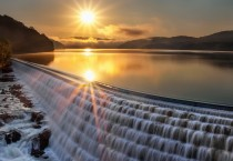 Waterfall At Sunset HD